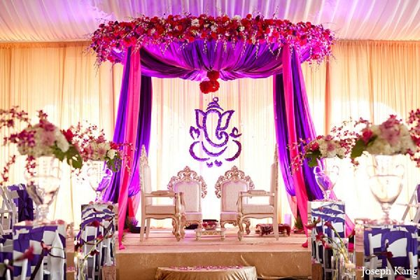 Purple Hot Pink Fl Decor Ceremony Mandap Indian Wedding Ideas For Reception Decoration India