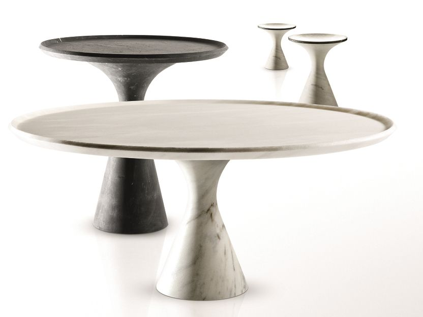 LOW ROUND MARBLE COFFEE TABLE PEDINA BY KREOO