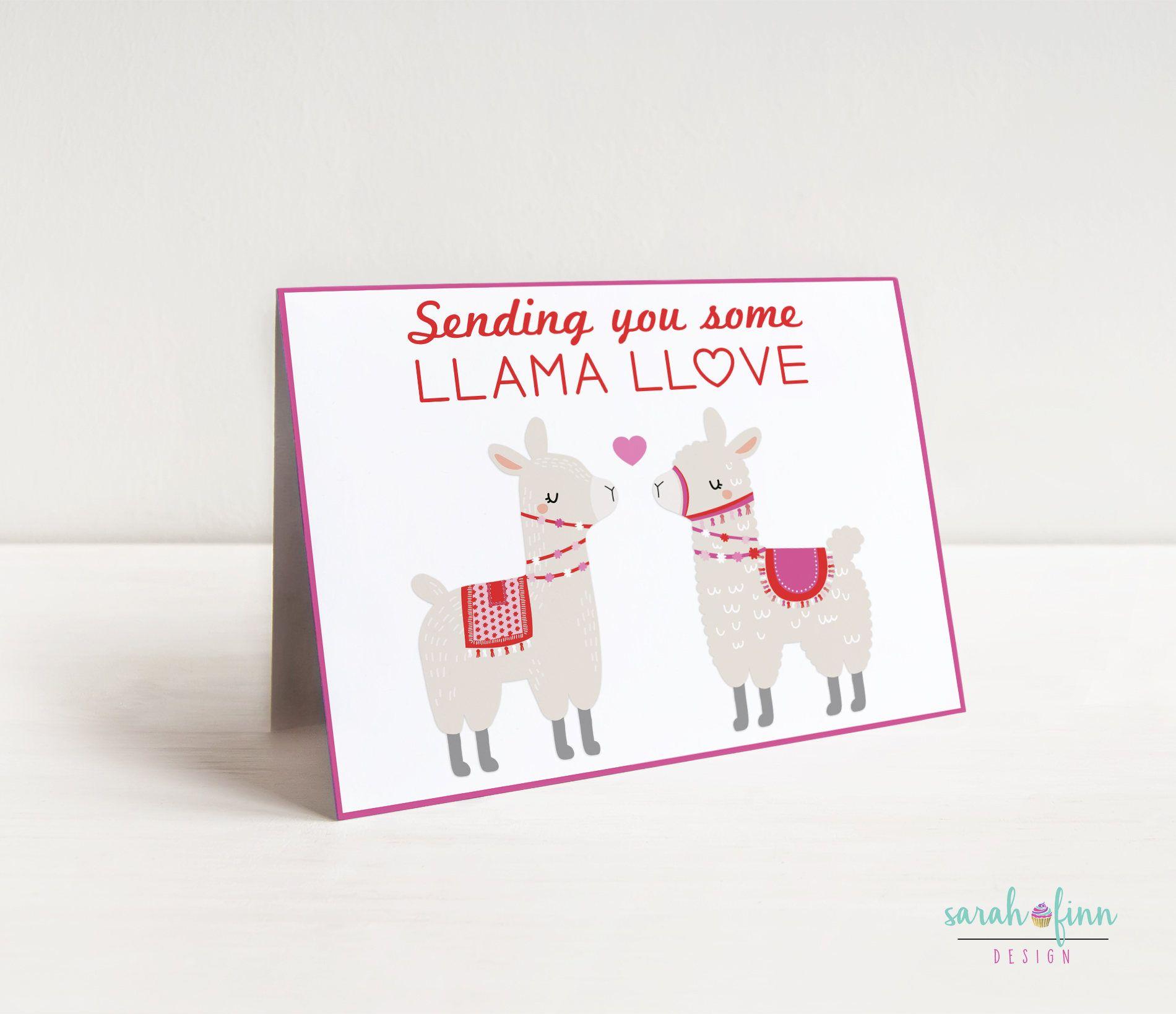 Llama Valentine S Day Card Alpaca Card Funny Card Valentine