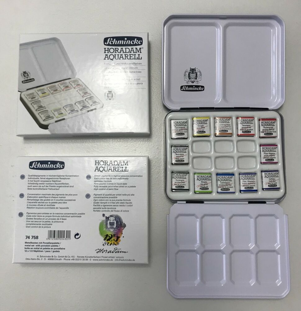 Schmincke Horadam Watercolor Palette 125 Year Anniversary Set