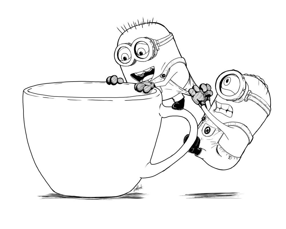 Edric Ang Minion Coloring Pages Minion Sketch Minion Drawing