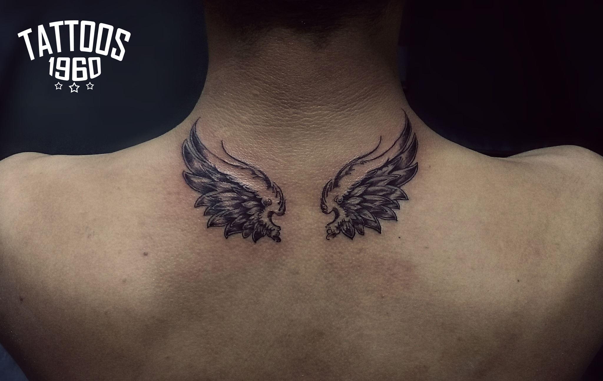 Wings Tattoo Angel Tattoo Neck Tattoos Tatuajes De Alas