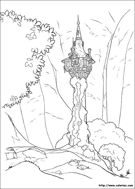 coloriage raiponce   Coloring pages   Pinterest   Raiponce ...