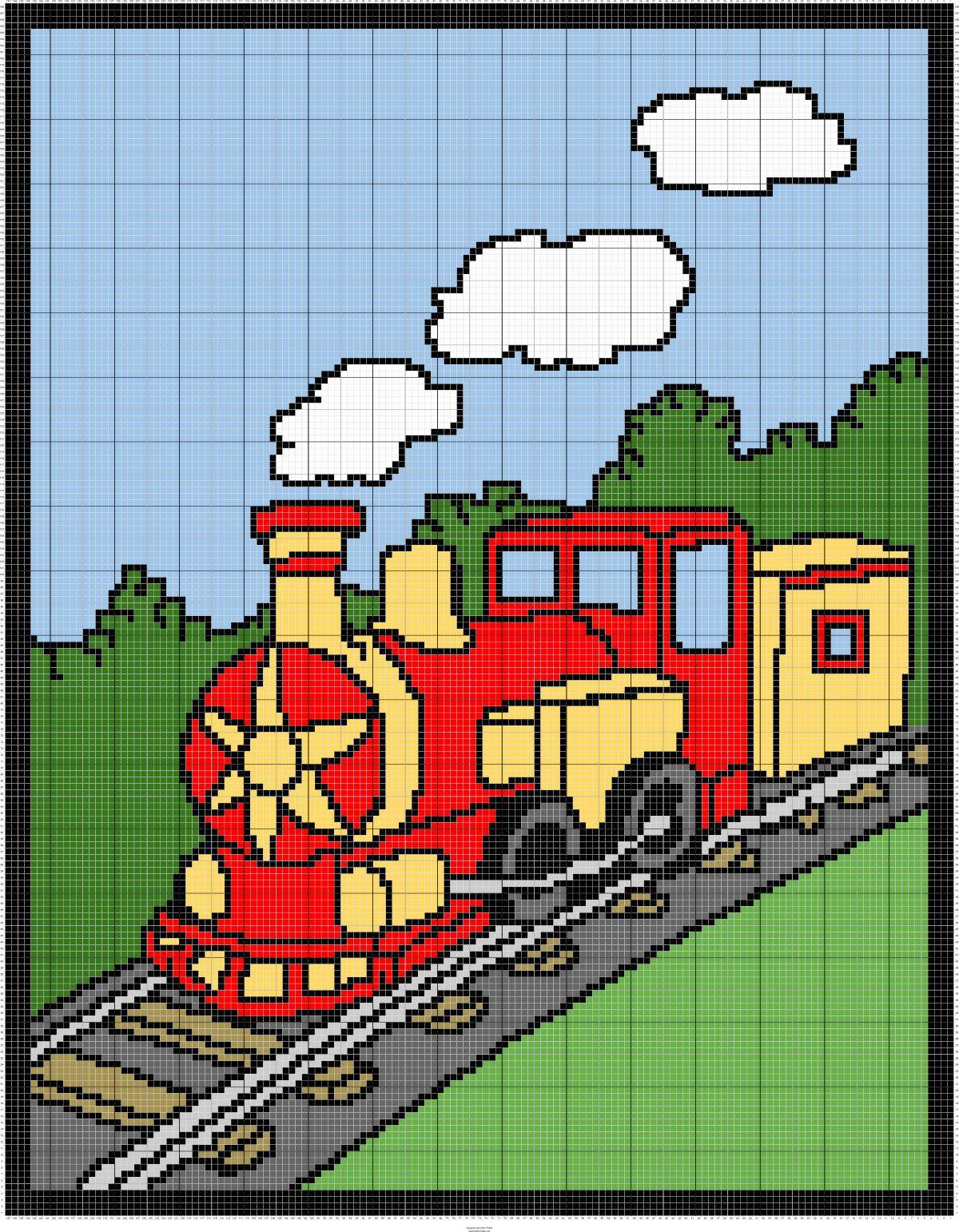 Choo Choo Train Graph Pattern With Row By Row Counts