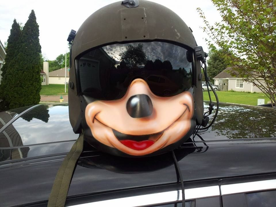 Face Shield On Army Helicopter Flight Helmet