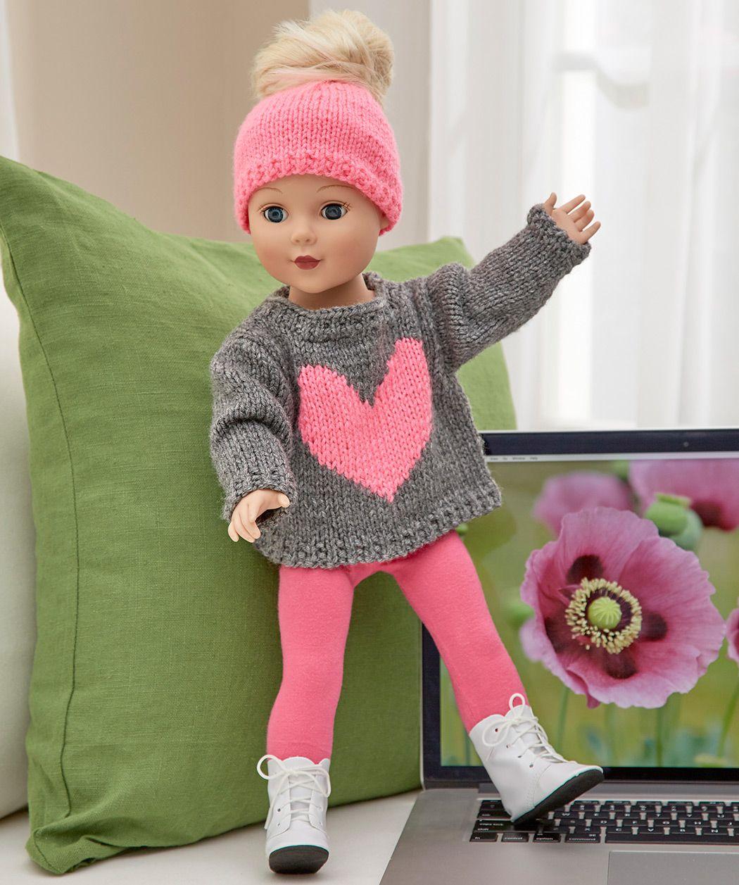 Dress Your 18-inch Doll | Red Heart | Alyssa\'s Stuff | Pinterest ...