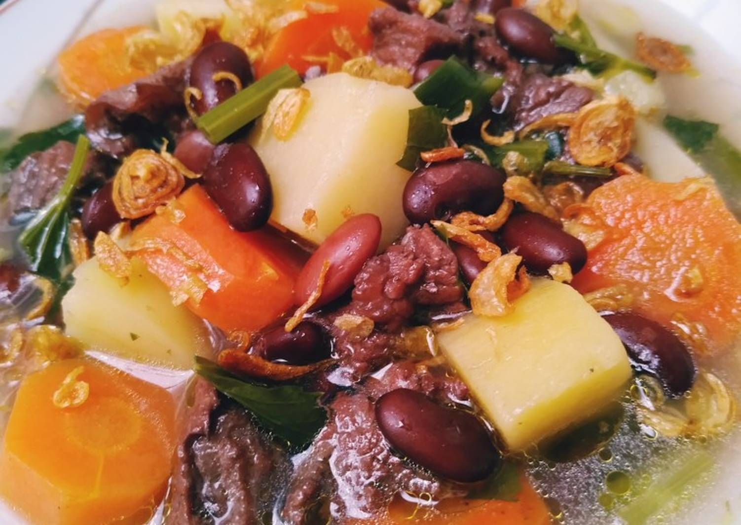 Resep Sayur Sop Kacang Merah Oleh Tyas Widiastuti Resep Kacang Merah Kacang Resep