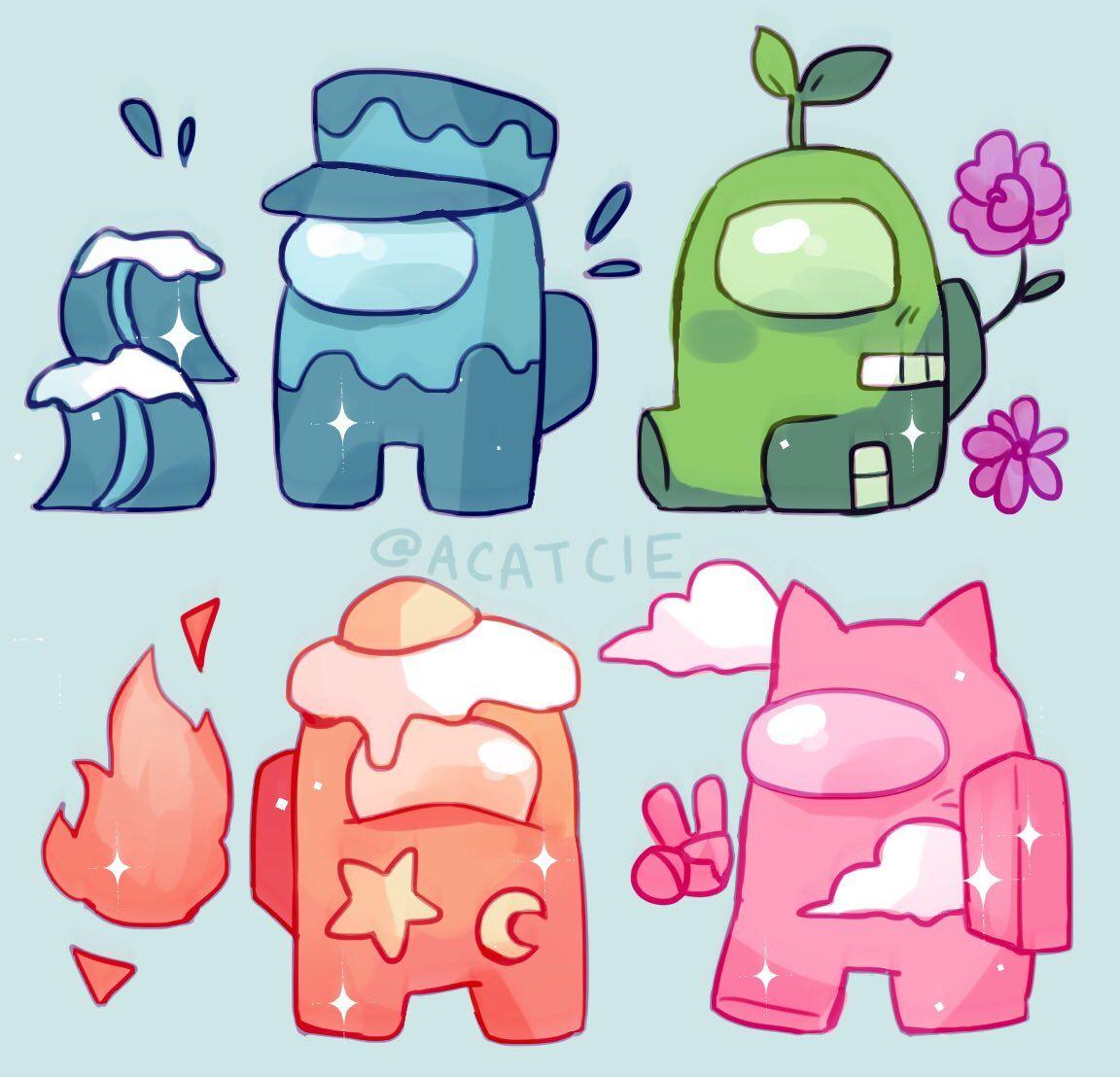 Save Follow Amongus Amongusfanart Cute Cartoon Wallpapers Cute Art Cute Drawings