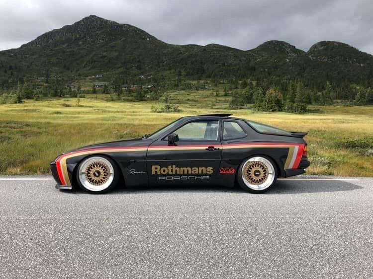 1991 Porsche 944 Turbo In Phantero Black Ly9z With Rothman S Livery By Kai Strandbraten Norway Porsche Classic Porsche Sportwagen Porsche 944