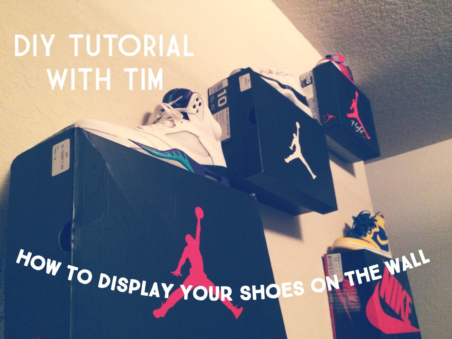 How To Display Your Shoes On The Wall Tutorial Bedroom