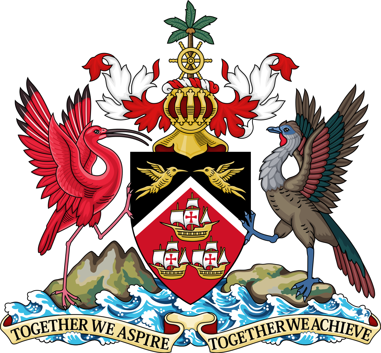 file coat of arms of trinidad and tobago svg caribe pinterest