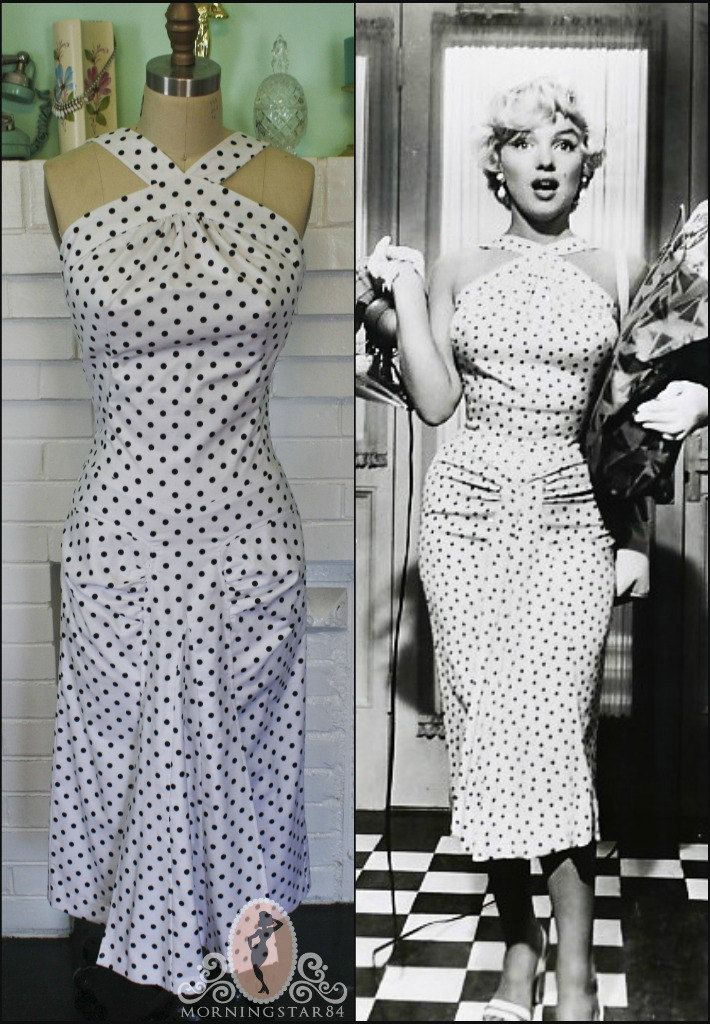 1b83f660991 Marilyn Monroe white polka-dot dress from