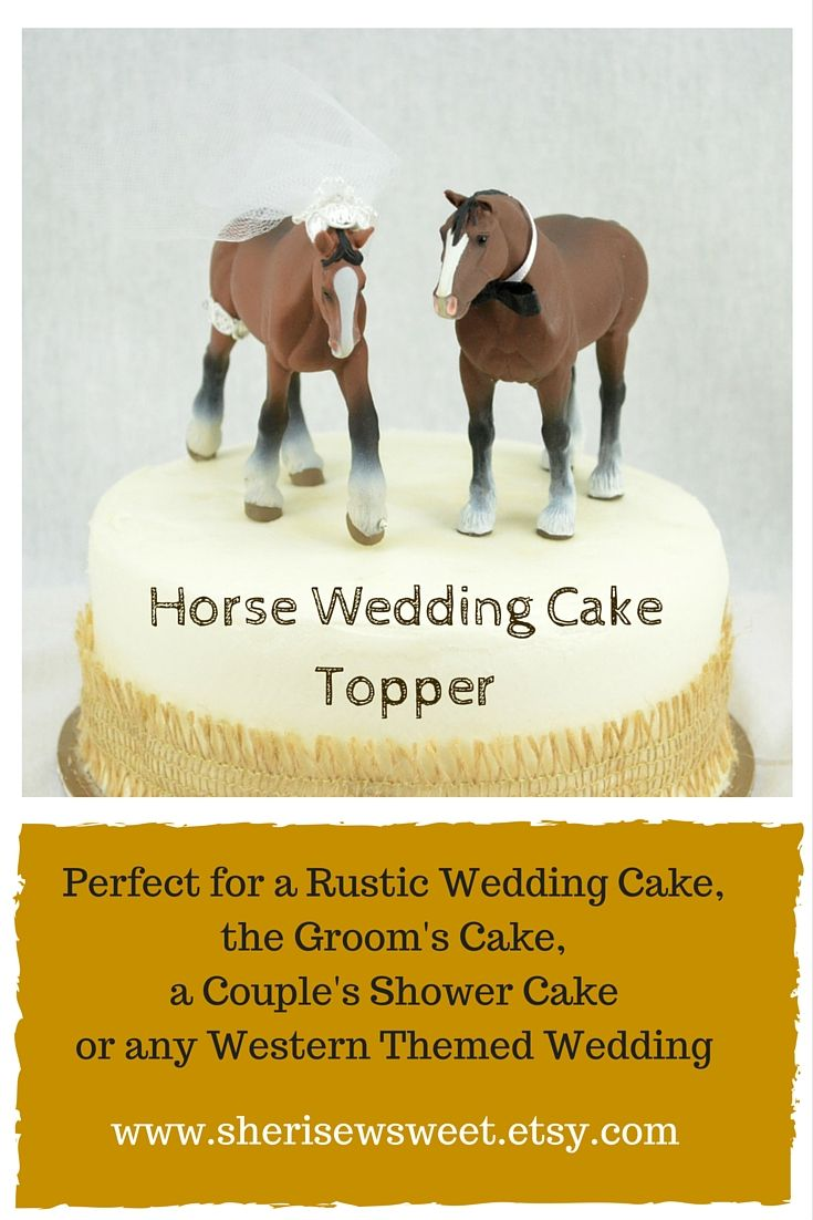 This lovely Clydesdale Wedding Cake Topper would be a fun addition ...