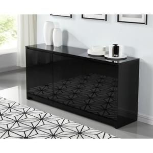 BUFFET - BAHUT POLARIS Buffet 160cm laqué noir brillant | Ideas ...