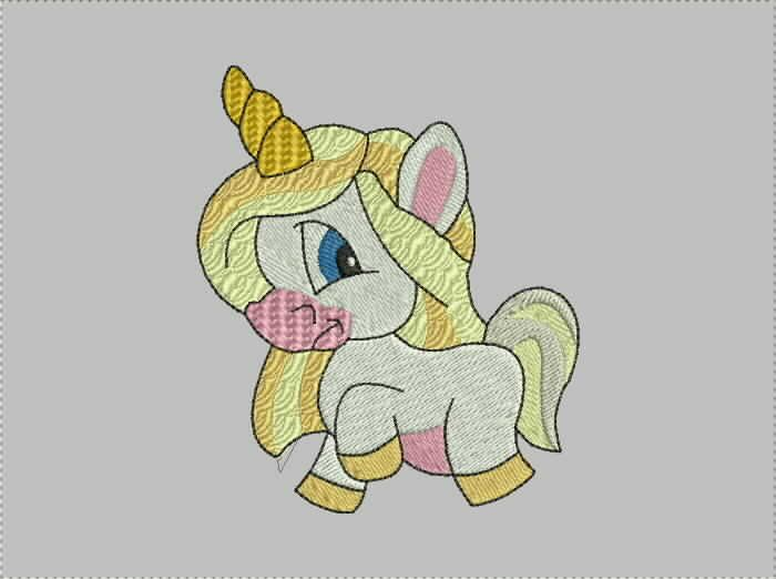 unicorn baby embroidery design  free download