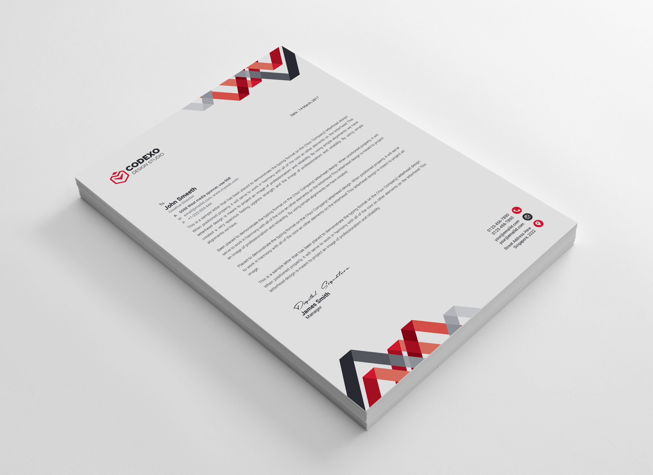 Chevron Professional Corporate Letterhead Template Graphic Templates Letterhead Template Letterhead Business Letterhead Design