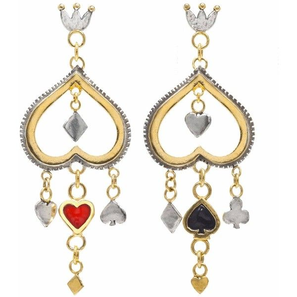 Sophie Harley London - Queen Of Hearts Earrings ($830 ...