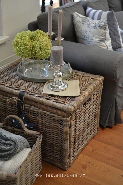 SeelenSachen September im Wohnzimmer Manden / Baskets Pinterest - wohnzimmer dekoration grau