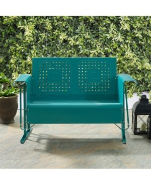 Bates Loveseat Glider Blue Patio Sofa Metal Sofa Love Seat