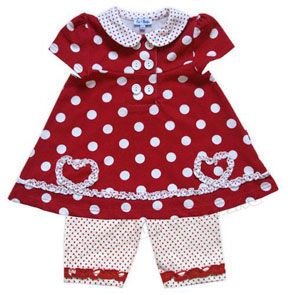 This is a cute outfit for a 9-12 month year old baby girl.