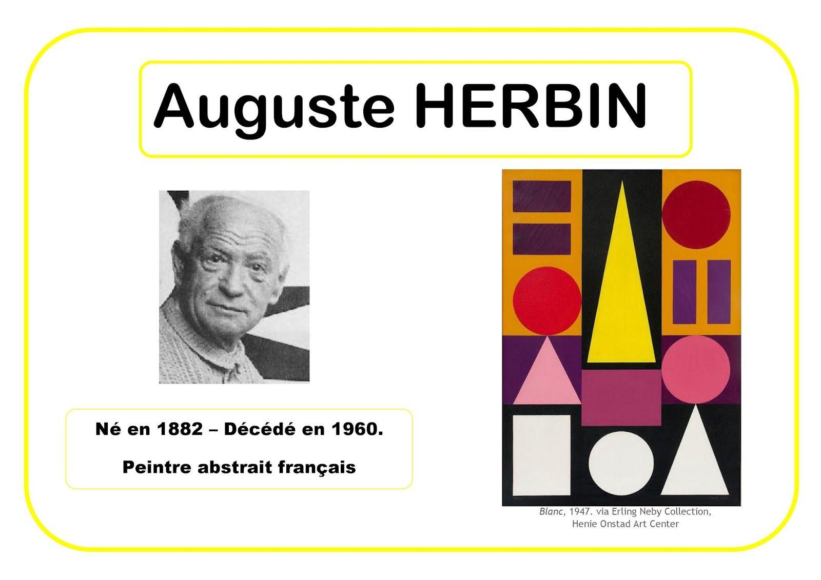 Auguste Herbin Portrait D Artiste Formes Géométriques Art Cours D Histoire De L Art Artiste