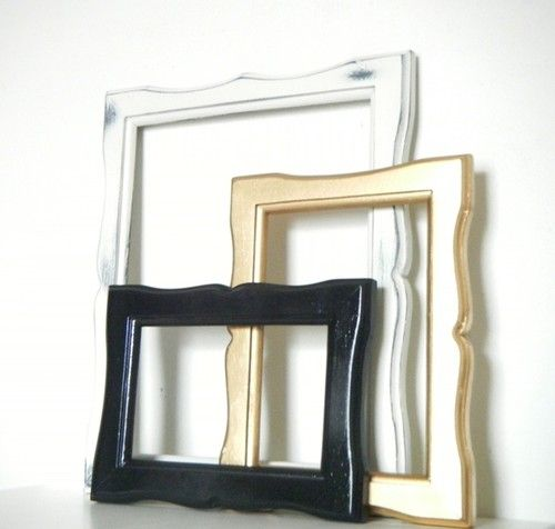 Wall Hanging Photo Frames in Black, Gold and Antique White modern ...