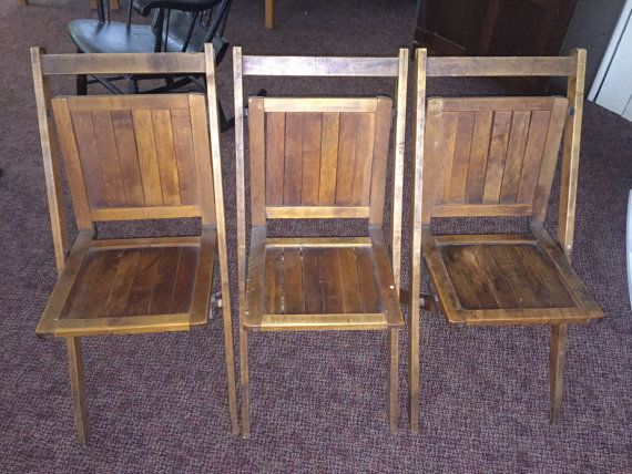 simmons company wooden folding chair made in the u s a vintage rh pinterest co uk simmons company wooden chairs