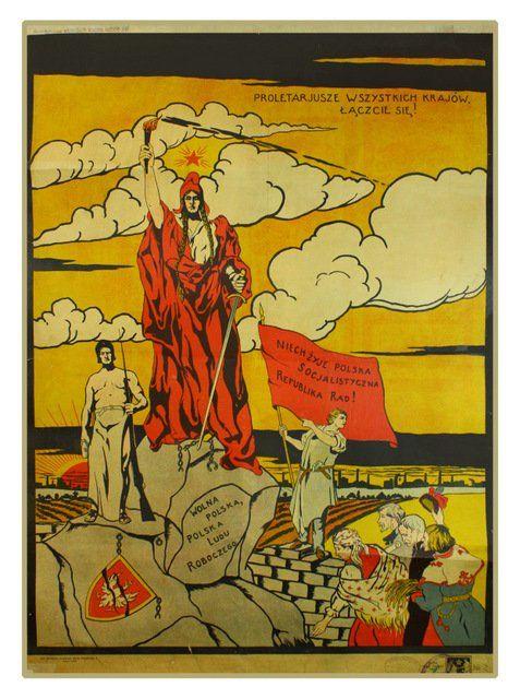 22: ANONYMOUS ARTIST.Long Live the Polish Soviet..1920 : Lot 22