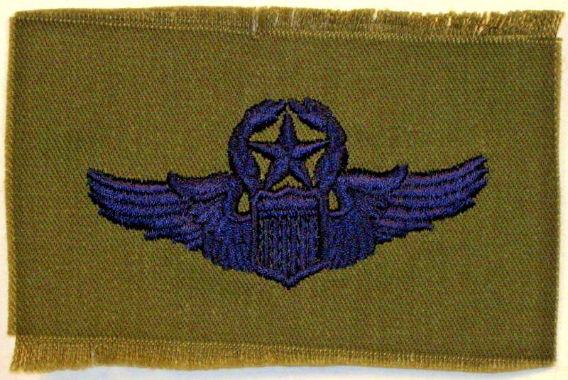 US Air Force Command Pilot Wings Badge Insignia Fatigue