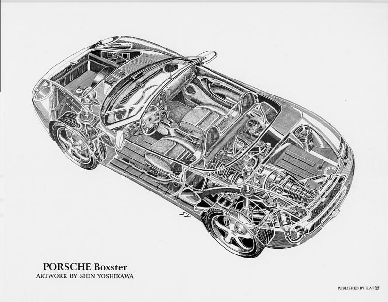 17 best images about cutaway diagrams cars ford gt part 3 shin yoshikawa s cutaway drawings and book the car build index