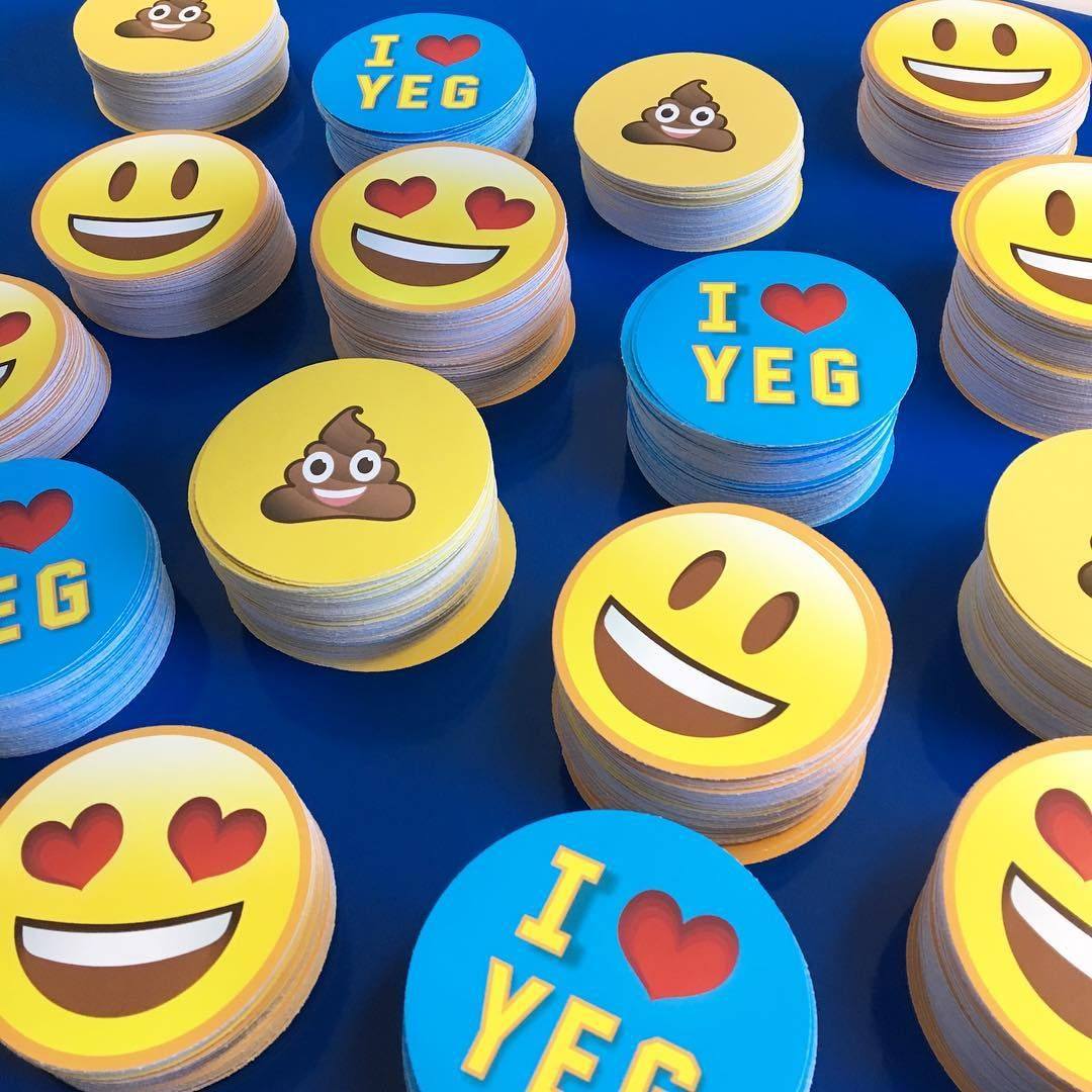 Custom emojis stickers get yours at www stickerbeaver ca free standard shipping in
