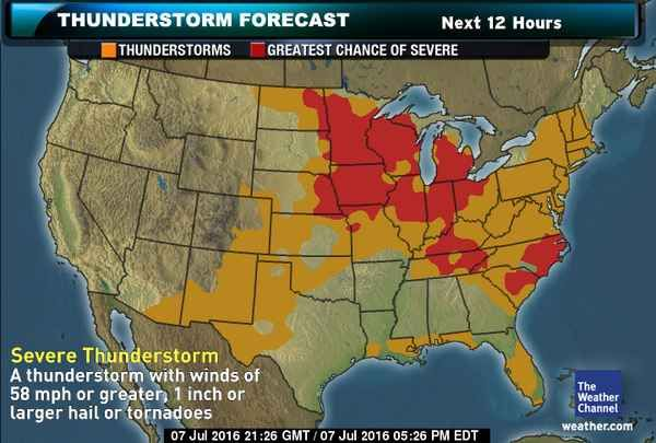 thunderstorm forecast weather weather map severe weather