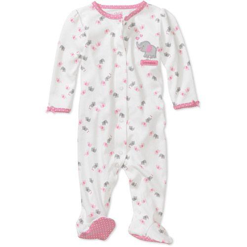 a06d42dc9 newborn baby clothes at walmart | Child of Mine by Carter's - Newborn  Girls' Elephant Sleep n' Play .