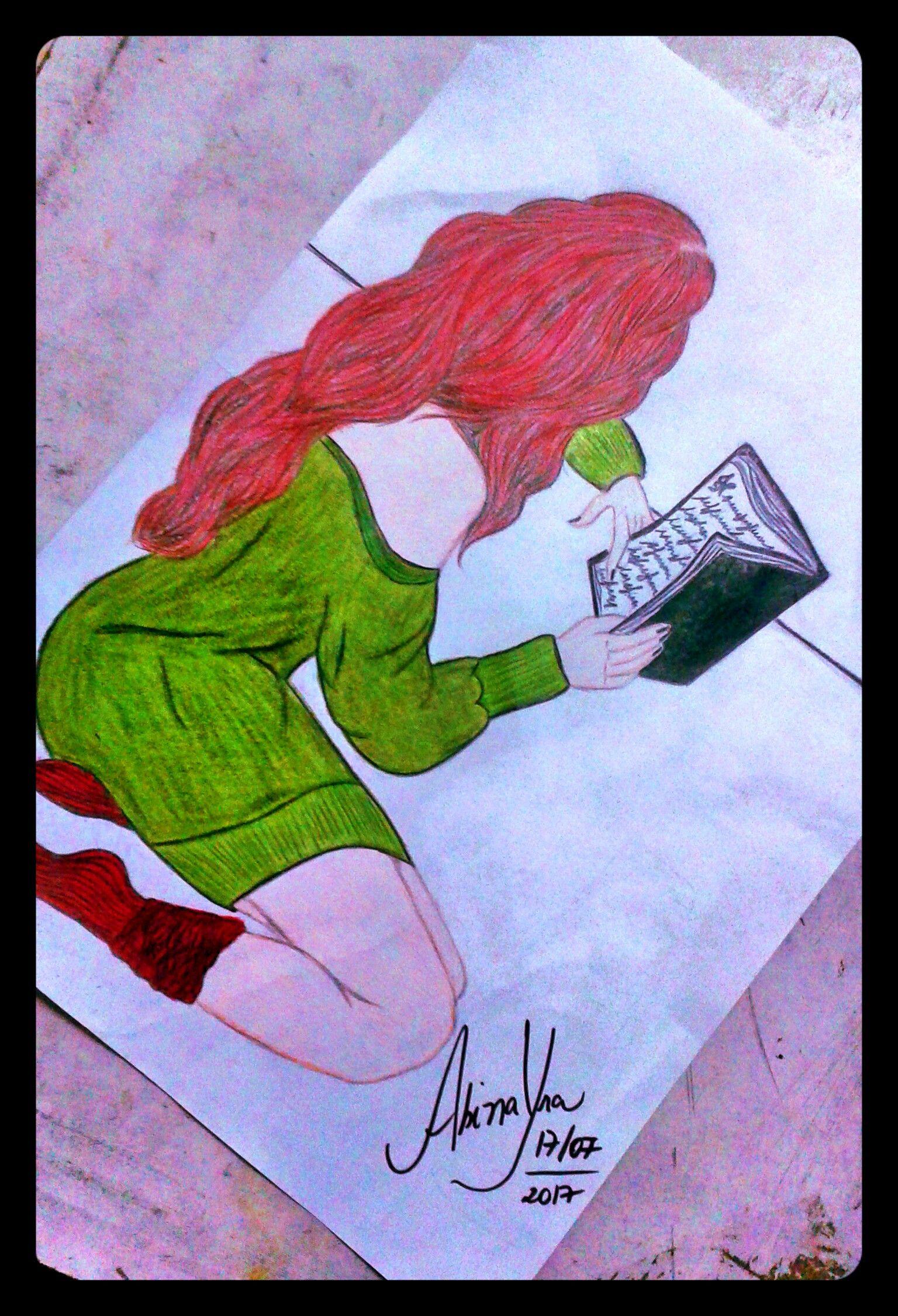 """Experimentando as cores"" #Ruiva"