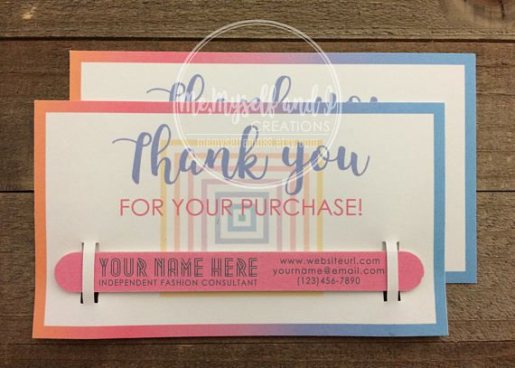 Business Thank You Cards With Custom Nail File Thank You Gifts