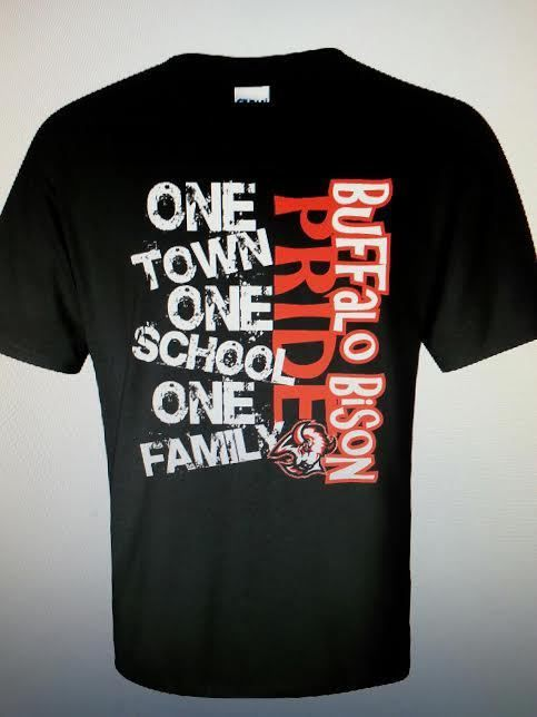 The Buffalo High School Student Council Is Selling T Shirts To Bring The  School And Community Together. The Shirts Display, U201cOne Town One School One  Family ...