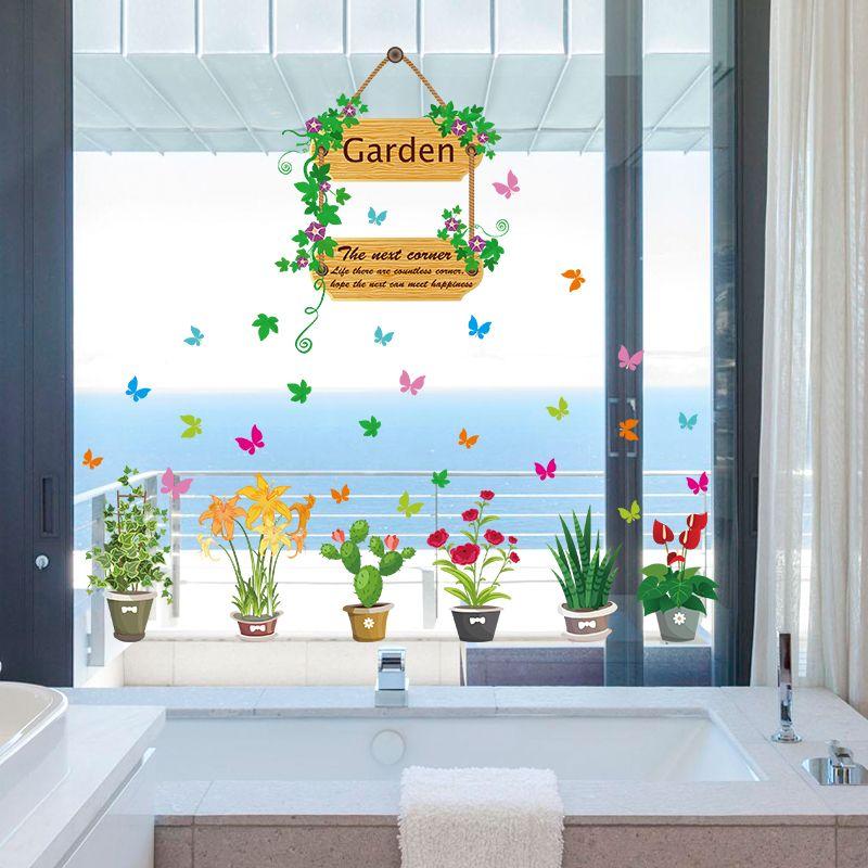 48 x 115 cm flowers wall sticker home decor garden wall decal for kids room # & 48 x 115 cm flowers wall sticker home decor garden wall decal for ...