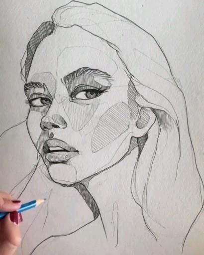 Photo of Портрет девушка видео иллюстрация карандашное искусство скетч арт скетчинг мода графика fashion styl