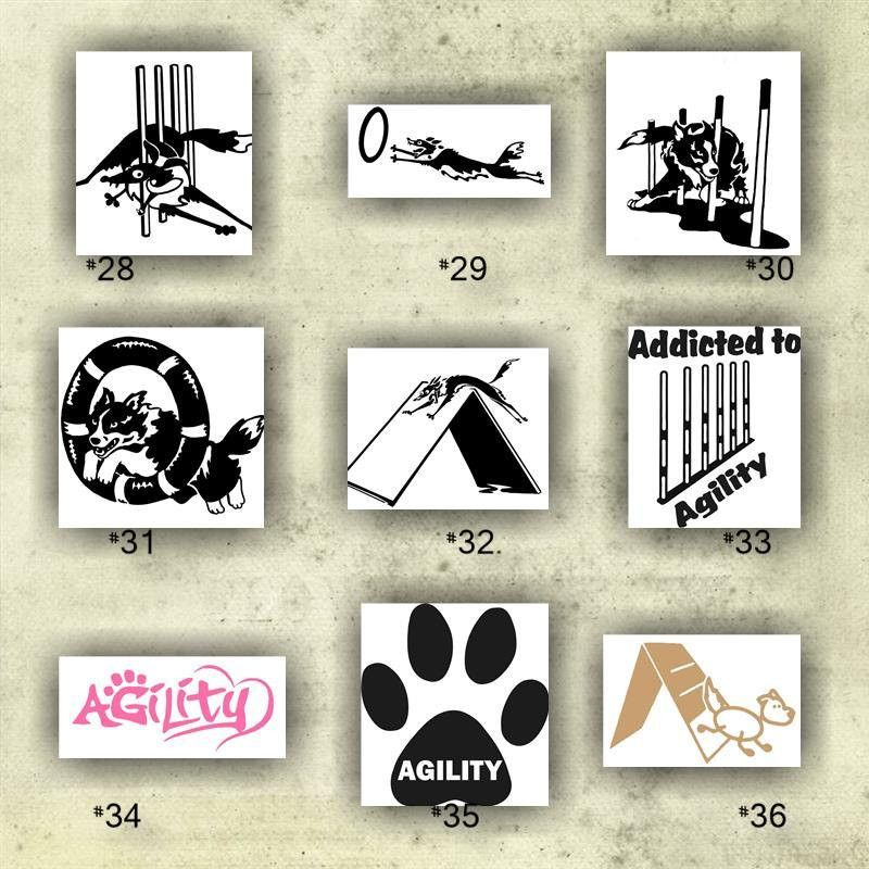 Border collie vinyl decals collie dog stickers herding dog sticker agility dog decals