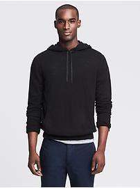 Slubbed Hooded Pullover