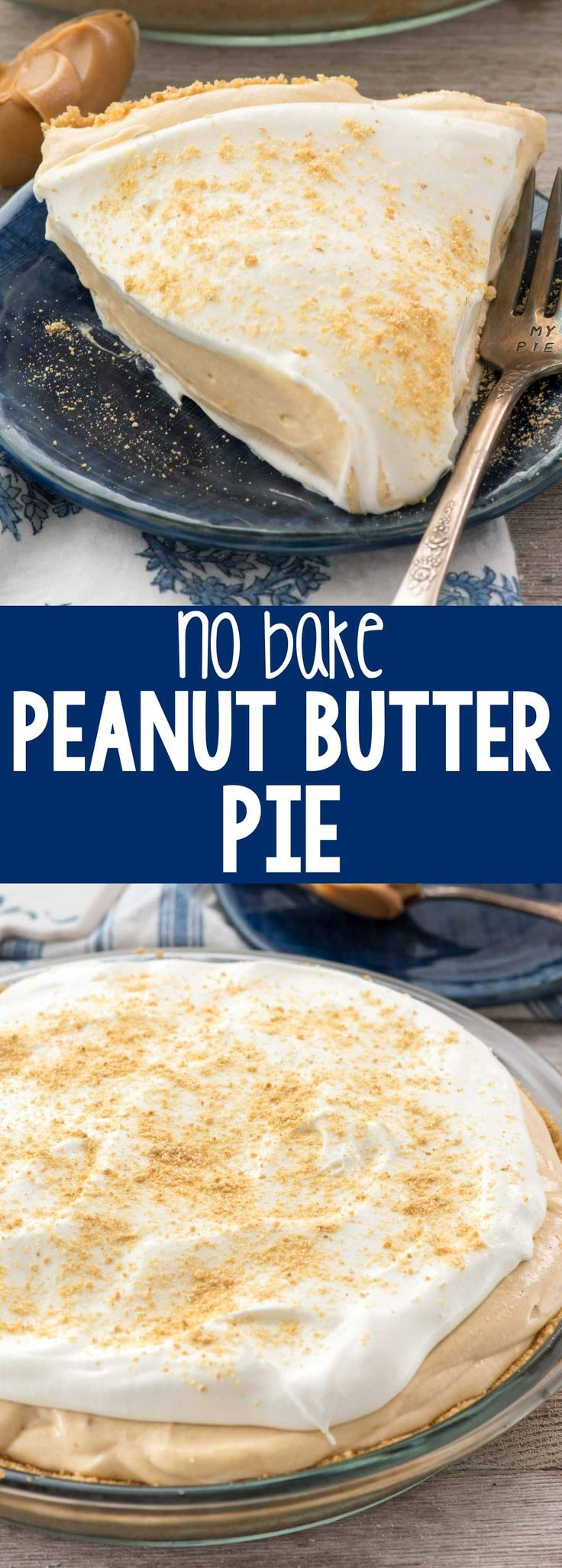 Food Photography: No Bake Peanut Butter Pie