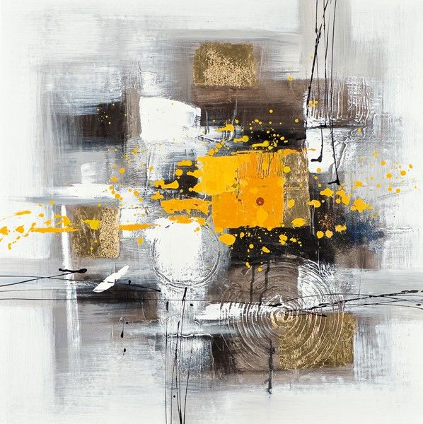 tableau abstrait 60x60 dor peinture acrylique et. Black Bedroom Furniture Sets. Home Design Ideas