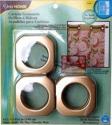 Dritz 44399 Square Curtain Grommets Gold 1 9 16 Inch 8 Pack By