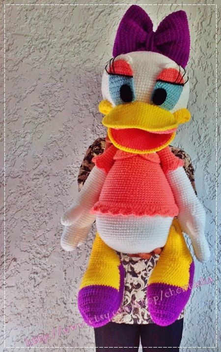 Daisy Duck 30 Inches Pdf Amigurumi Crochet Pattern Love To Have
