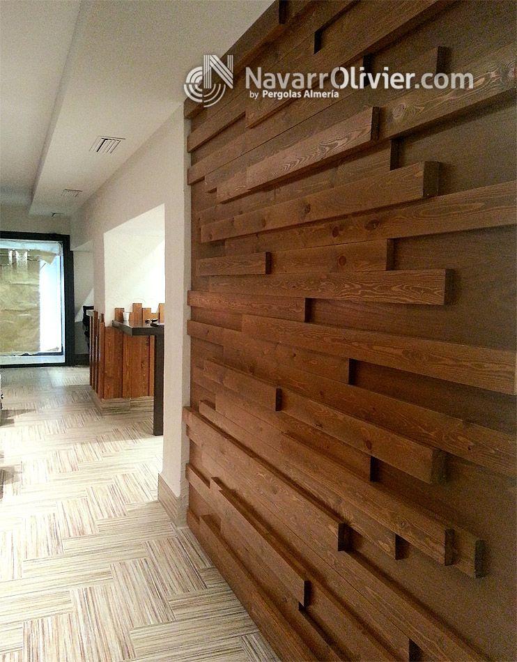 Muro decorativo en madera decoraci n de bar en lorca murcia muebles de - Muebles el rebajon murcia ...