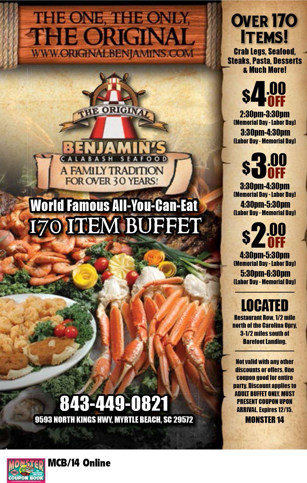 The Original Benjamin S Calabash Seafood Myrtle Beach Resorts Myrtle Beach Resorts Calabash Seafood Myrtle Beach Vacation