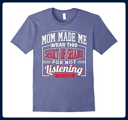Mens Mom Made Me Wear this Shirt of Shame T-Shirt 2XL Heather Blue - Relatives and family shirts (*Amazon Partner-Link)