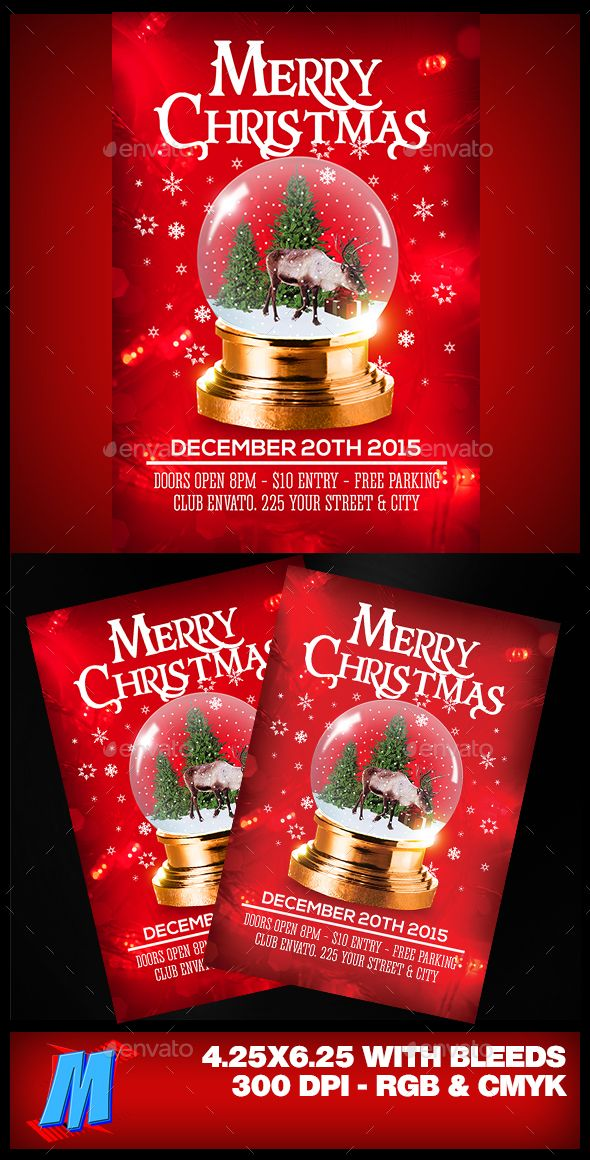 Merry Christmas Flyer Template Christmas Flyer Flyer Template And