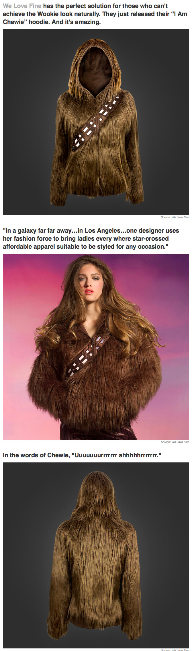 Chewbacca Hoodie Turns You Into A Rea Life Wookie Funny Things