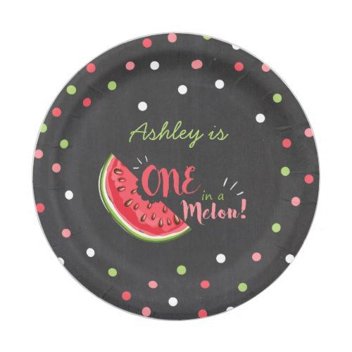 One in a melon First birthday Paper Plates summer | 1st Birthday Party | Pinterest | Birthdays  sc 1 st  Pinterest & One in a melon First birthday Paper Plates summer | 1st Birthday ...